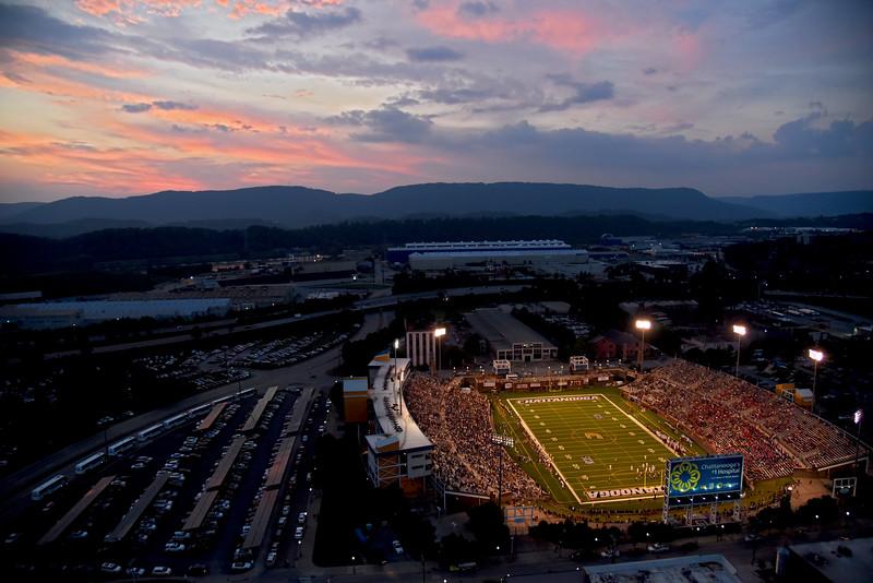 Sunset over the Mocs Season Opener Football Game 2015