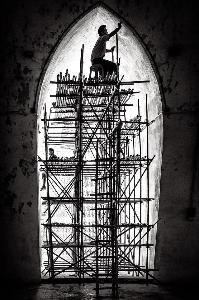 Repairs underway at Ananda Pagoda in Bagan, Myanmar