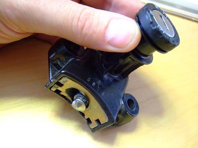 F650 Steering lock
