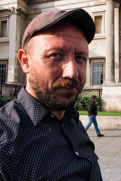 The Street Artist, Trafalgar Square