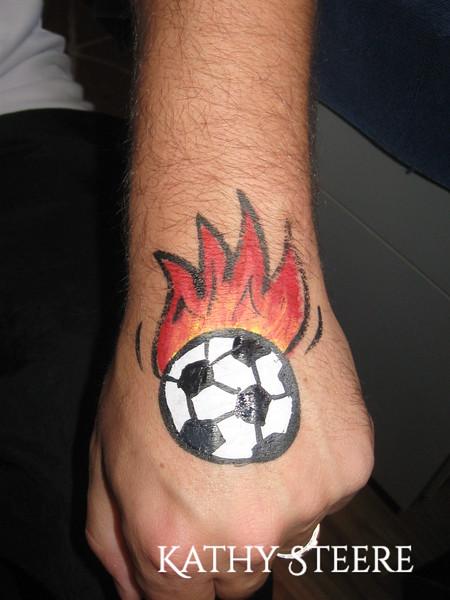 Flaming Soccer Ball