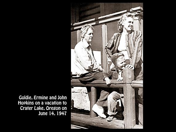 Goldie, Ermine and John Hopkins, September 1947.
