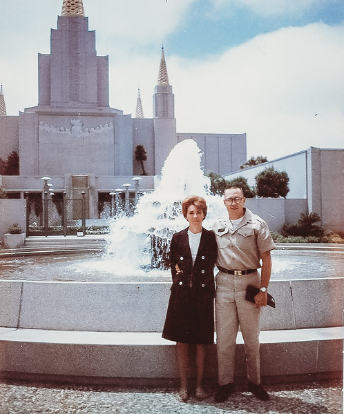 Mary and I [Vern] at Oakland Temple