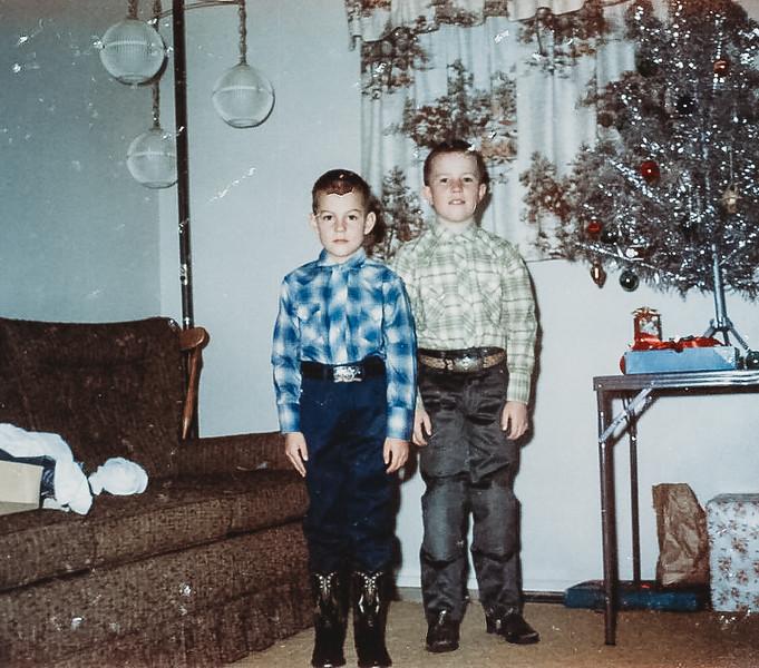 """""""Jeff and Kirk Christmas"""" 1967"""