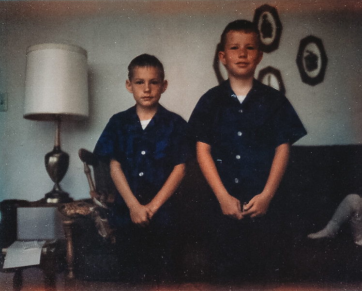 """""""The Boys"""" May 1968  <br /> <br /> [Kirk-left, Jeff-right]"""