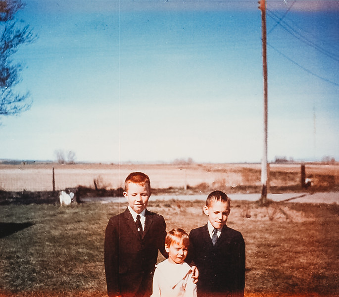 """""""Jeff, Kirk and Ellen"""" Easter- April 14, 1968"""