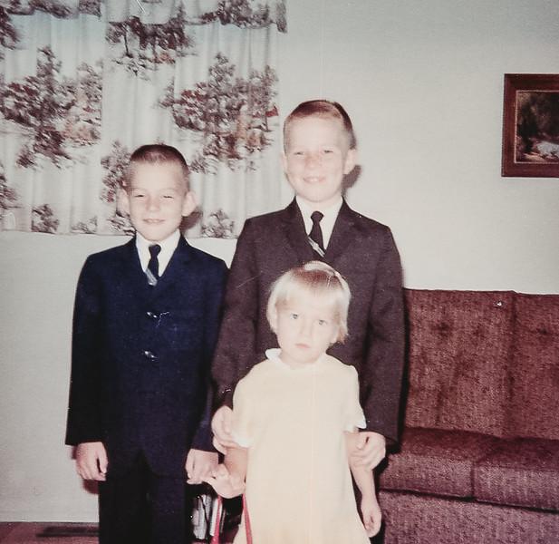 """Kids all dressed up. Ellen before permanent"" 1967"