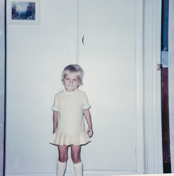 """""""Ellen wanted mommy to make her a yellow dress"""" -October 1967"""