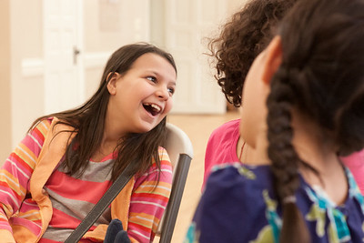 Laughing With Friends in Homeschoolers' Group