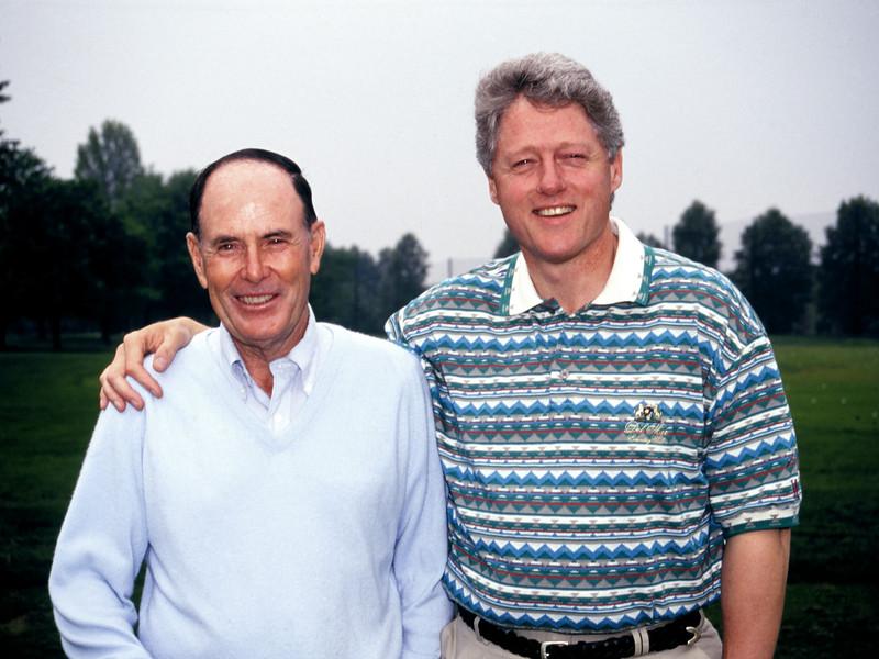 Pete Dye & Bill Clinton