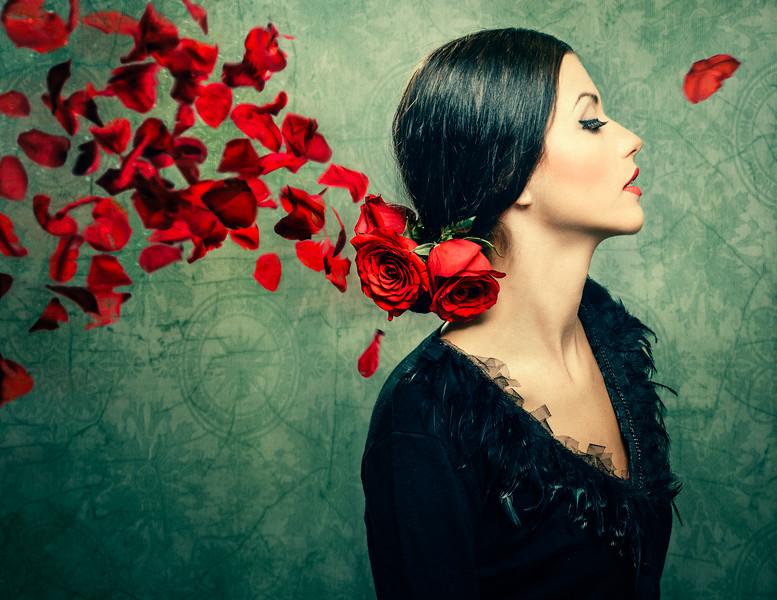 Petals of roses