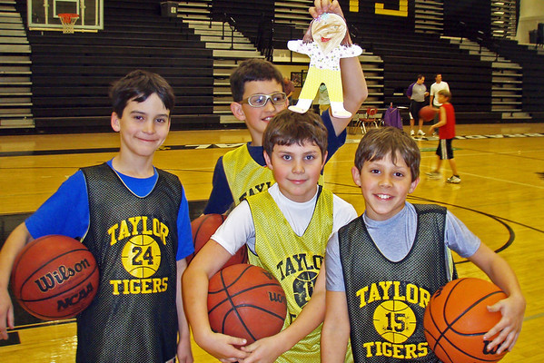 Monday, March 16 - Ethan is on an AAU basketball team.  I got to meet some of his teammates at practice.