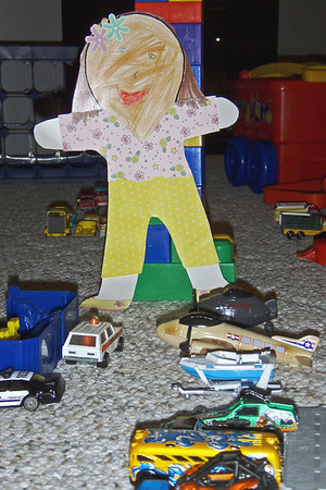 Saturday, March 28 - It rained again today.  So we played indoors with cars, trucks, airplanes, and legos.