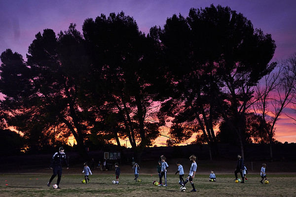 Winter practice sunset.