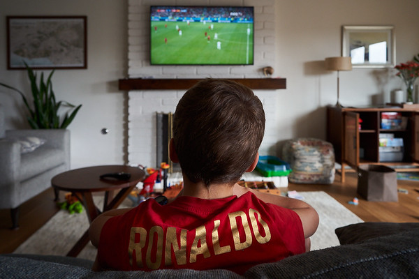 Watching  a replay of a Spain vs Portugal 2018 World Cup game.