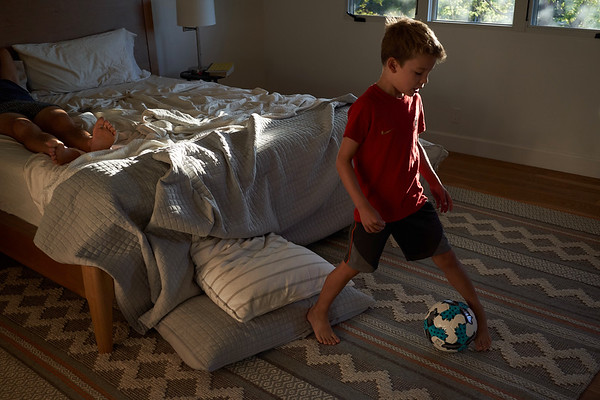 Weekends, soccer is always the first thing on his mind. Age 7.5