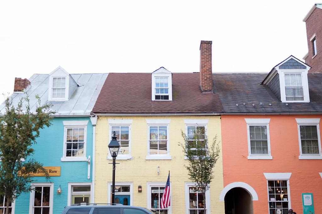 pretty pastel buildings
