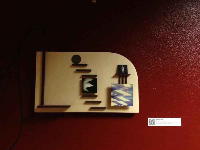 """Sawtooth"", wood panel"