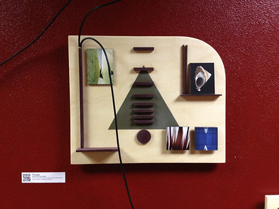 """Triangle"", wood panel"