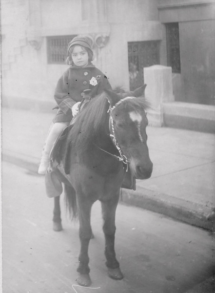 Shirley Raisler on a pony - confirmed from back of photo