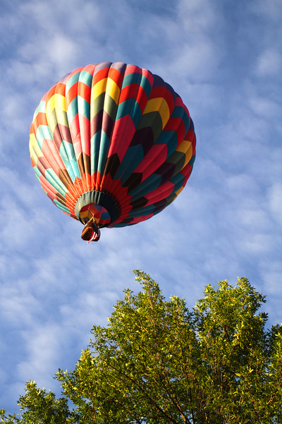 This shot shows how close the balloon was to the ground... or the tree tops.