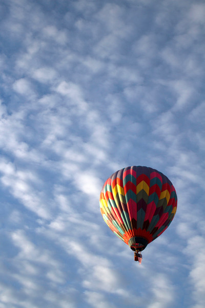 Morning balloon ride going over our house.  Beautiful day for a flight!