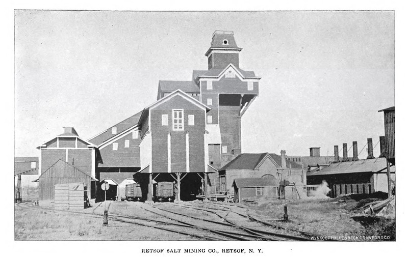Retsof Salt Mining Company, Retsof, NY, serviced by Genesee & Wyoming Railroad, (1898)