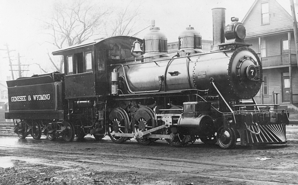 Genesee & Wyoming Railroad engine # 7, Schenectady, NY (Apr, 1905), Harold Vollrath Collection