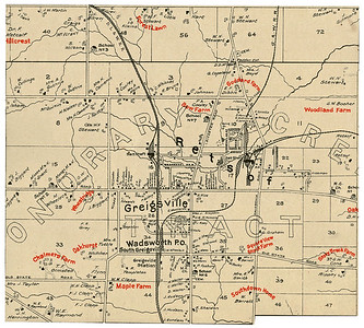 Map of Retsof, NY, Genesee & Wyoming Railroad services the Rtesof Salt Mine (Salt Shaft on right) (1902)