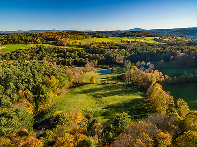 The hillsides along the Connecticut River valley offer tranquiliy and amazing views. (Norwich, VT)