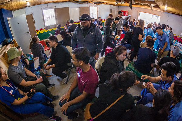 John Chaides<br /> Providers see patients at the the Colonia Grupo Clinic by Healing Hearts Across Borders in Tijuana, Mexico on Friday, May 31, 2019. Doctors and forth year med students provide full checkups for patients.
