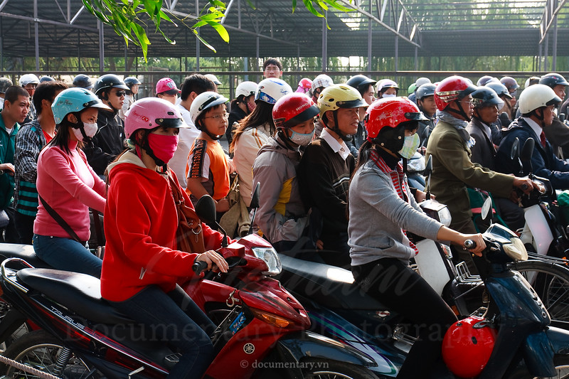 People with helmets