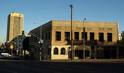 View of the Italian Hall from west on Cesar Chavez Avenue.