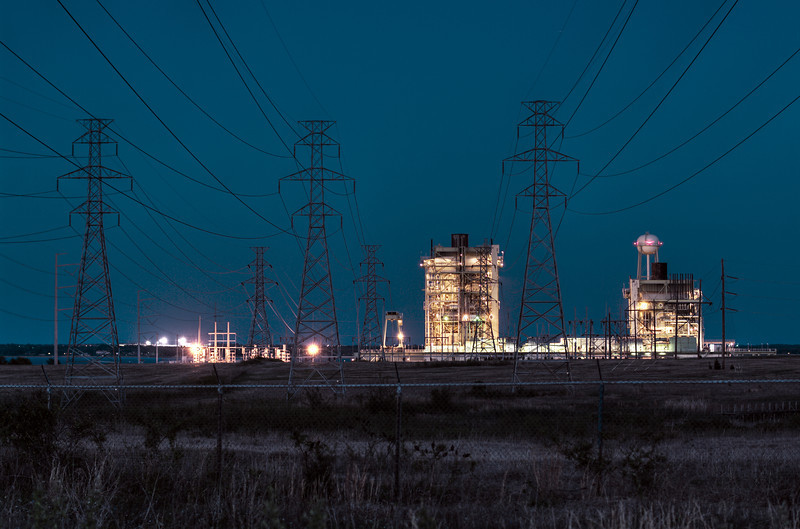 Power plant on Lake Ray Hubbard, Garland TX (Apr 2014, HDR)