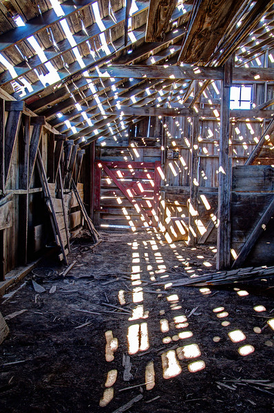 Let the sun shine in, abandoned barn, Miller, NE (Nov 2012, HDR)