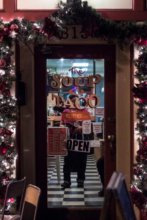 The Soup & Taco Doorway