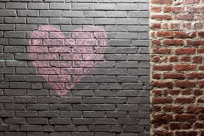 Heart on Brick Wall