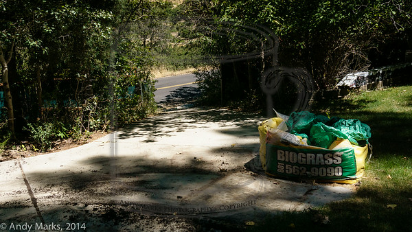 East drive is open again, two cubic yards of dirt are gone, about .5 cubic yards remain