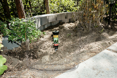 """Step 3: add a 2nd head to the new area, leaving it 2"""" above the drive (and soil)"""
