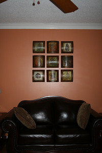New art work above the loveseat - May 2008.