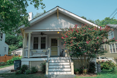 house with crape myrtle