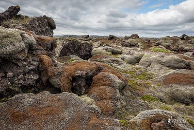 Lava Field, Medalland, Iceland