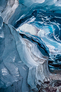 Ice Cave Abstract, Skaftafell, Vatnajokull National Park, Iceland
