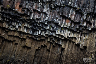 Basalt Abstract, Svartifoss Waterfall, Skaftafell, Iceland