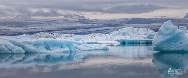 Jokusarlon Glacial Lagoon Panoramic, Iceland