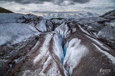 Crevasse, Glacier, Vatnajokull National Park, Iceland