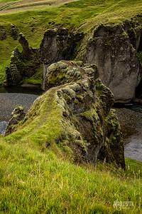 Precarious Path, Fjadrargljufur Canyon, Iceland