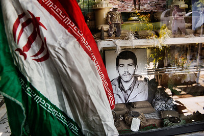 August 11, 2017 – Teheran, Iran. Behshat Zahra Martyr cemetery. Picture of an Iranian killed during the Iran-Iraq war of 1980-1988. © Simone Tramonte