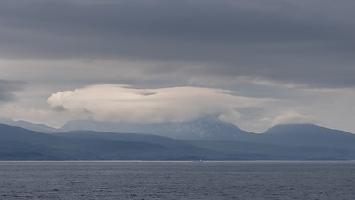 Paps of Jura in cloud