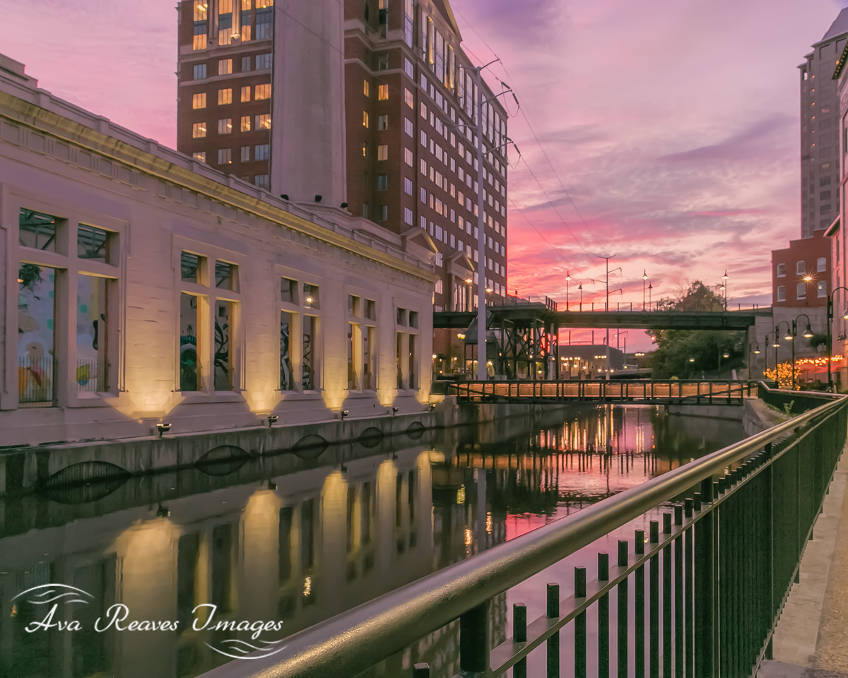 Golden Hour Along The Canal